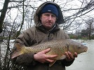 A unknown angler from Llandysul with a 12lb clean Common