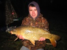 12.75lb Common Carp caught by local Mark on dog biscuit at the end of a v.cold day