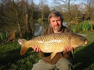 16lb Common Carp from Main Lake on floating bread by local angler Mike Keeling