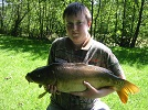 visiting angler lands excellent Carp from House Pool