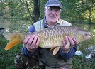 One of our smallest Grass Carp, caught by Daniel Pearson of Llangollen, on floating chum mixer pellet at 4lbs.