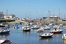 A view of Aberaeron's Harbour
