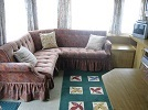 The Lounge of Caravan #2 with fully sprung, comfortable seating