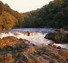 A view of the beautiful Cenarth Falls