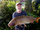 Visiting angler, Dave Mervyn, also, with a cracking Common from the Main Lake