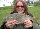 A lovely 2lb Roach from House Pool caught by Ms Cerri Meadows