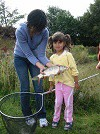 Young Lass (and Mum) with her first Carp