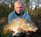 Paul Horobin with his 12.5lb Common Carp caught on the 1st January