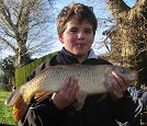 Kalvin Hughes with a 7lb common