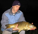 Paul Wells of Burryport, Llanelli with a 10 1/4lb common caught late in the evening which is a good time for Carp at Nineoaks