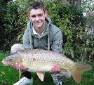 From the House Pool a 15 1/2lb Common caught by Jamie Field of Caerphilly on floating dog biscuit in the Main Lake.