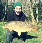 Rob Keeling with a 17lb common carp