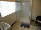 A good sized shower room with large, glass sided, double shower is available